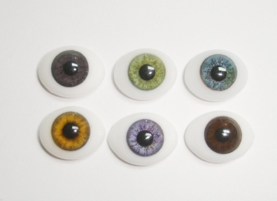 Oval Glass Eyes #CD