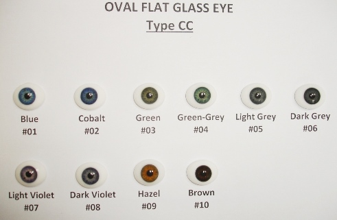 Oval Glass Eye #CC